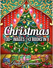 100 Christmas: A Christmas Coloring Book for Adults with Santas, Reindeer, Ornaments, Wreaths, Gifts, and More!