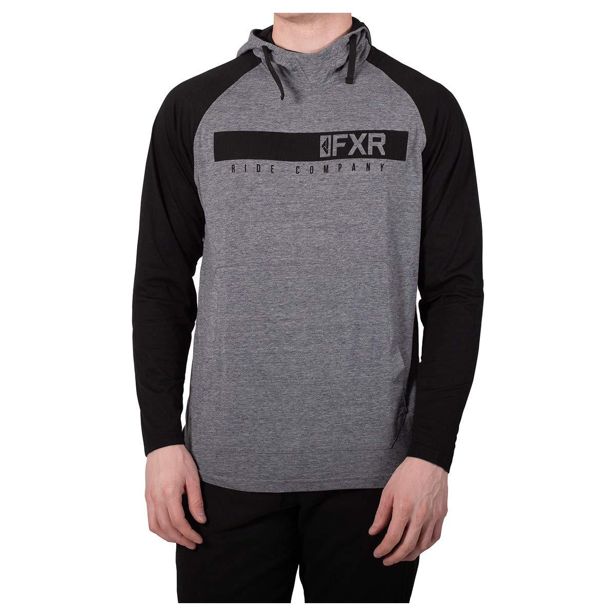 FXR M Trainer Tech Pullover Hoodie Black//Orange 2XL 192043-1030-19