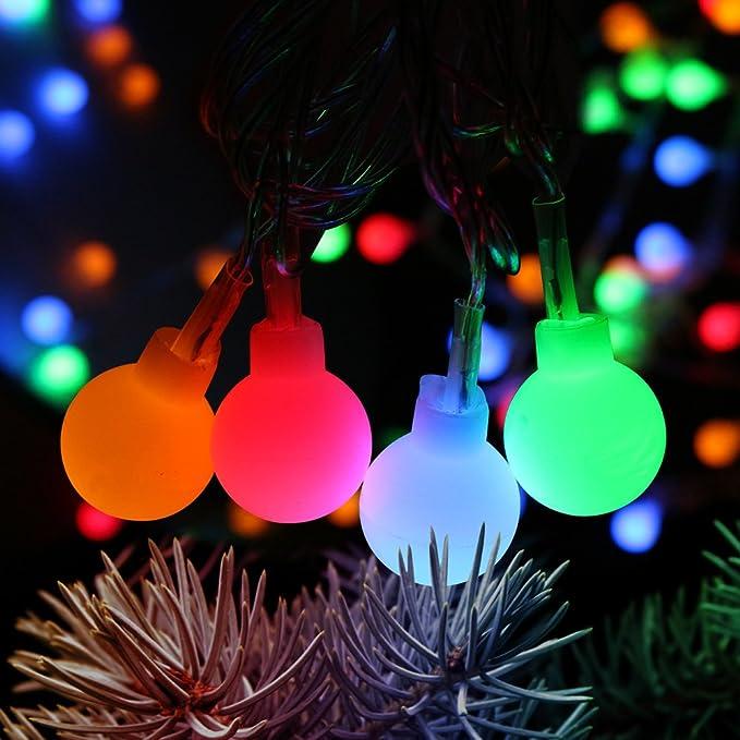 Guirlandes lumineuses, Furado Guirlande Lumineuses Boules LED, 33ft/10m, 100 LEDs Boules Colorées, 8 Modes d'éclairage avec fonction de mémoire, Décoration pour Jardin Mariage Terrasse Pelouse, Pri
