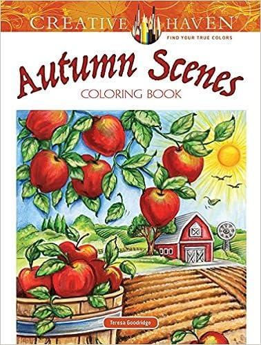 Amazon Creative Haven Autumn Scenes Coloring Book Adult 9780486812748 Teresa Goodridge Books