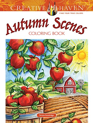 Creative Haven Autumn Scenes Coloring Book (Creative Haven Coloring Books) -