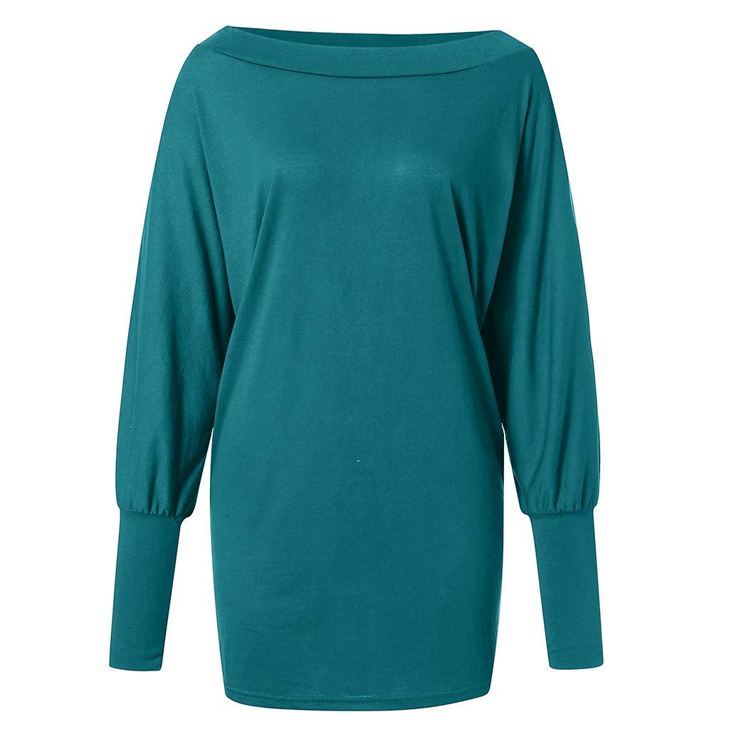 AOJIAN Blouse Women Long Sleeve T Shirt Cold Shoulder Slolid Loose Tunic Tank Shirts Tops at Amazon Womens Clothing store: