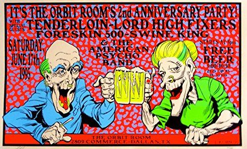 TENDERLOIN Poster Original Concert 1995 PUNK ROCK COUPLE RARE S/N Lindsey ()