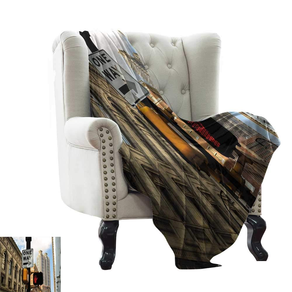 color02 60 x62  Inch BelleAckerman Couch Blanket City,Street in Paris Cafe Illustration Holiday Theme Summer Season Eating Drinking Cartoon,Multicolor Super Soft Faux Fur Plush Decorative Blanket 50 x60