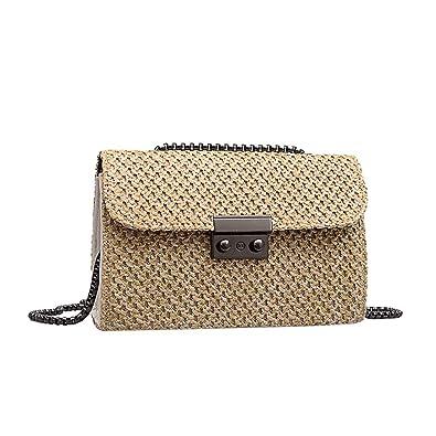 Bolsas de paja para mujer, bolsa de playa de ratán, bolsa de ...