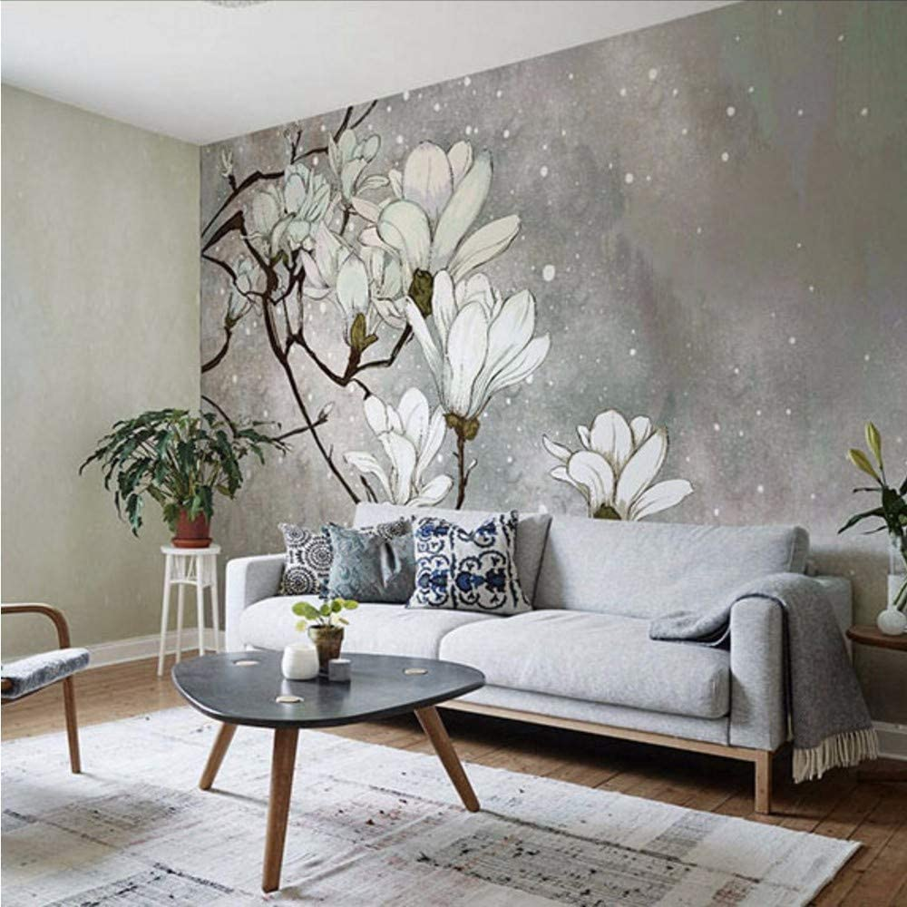 Weaeo Hand Painting Large 3d Wall Murals Wallpaper For Living Room Flower Pared Murals Background 3d Photo Wall Mural 3d Wall Paper 250x175cm Amazon Co Uk Diy Tools