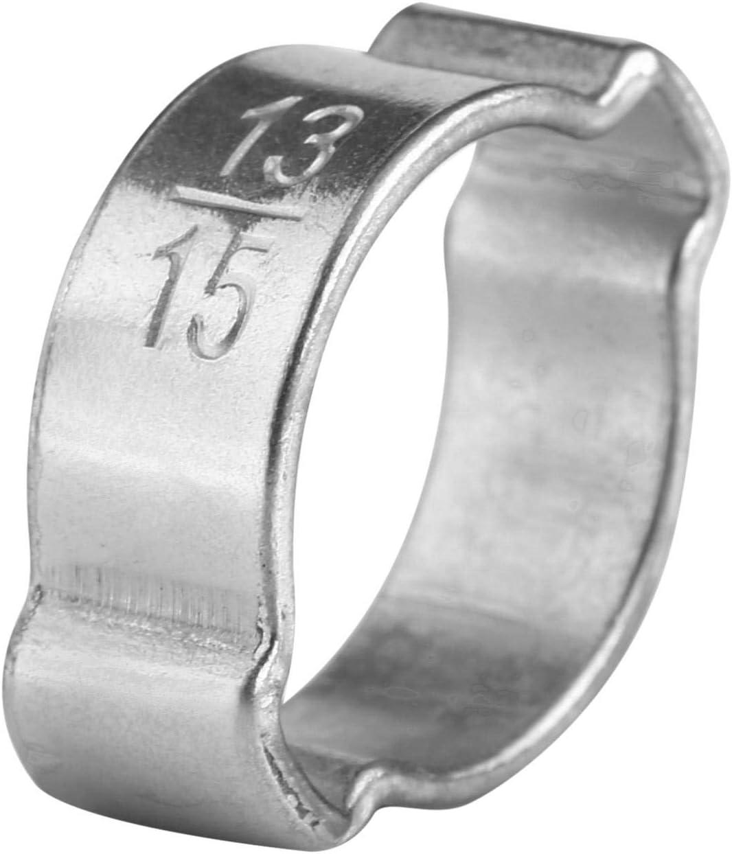 15-18MM Colliers de Serrage Wendry Colliers de Serrage 5-23 mm pour Tube Colliers doreilles Colliers de Serrage en Acier Inoxydable zingu/é /à Deux Oreilles