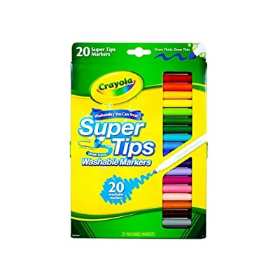 Crayola Markers Super TIPS-20/PKG: Toys & Games