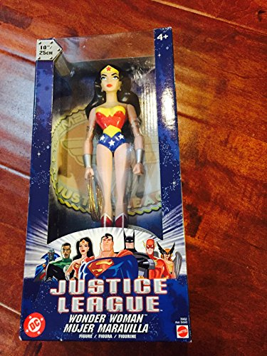 "61WW1a6fIGL Justice League JLA Unlimited 10"" Wonder Woman Action Figure"