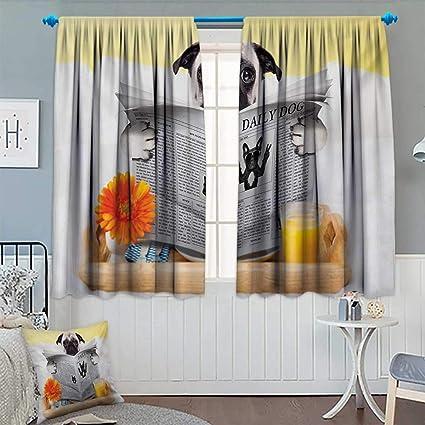 Chaneyhouse - Cortina impermeable con diseño de perro para lectura diaria, para el desayuno en