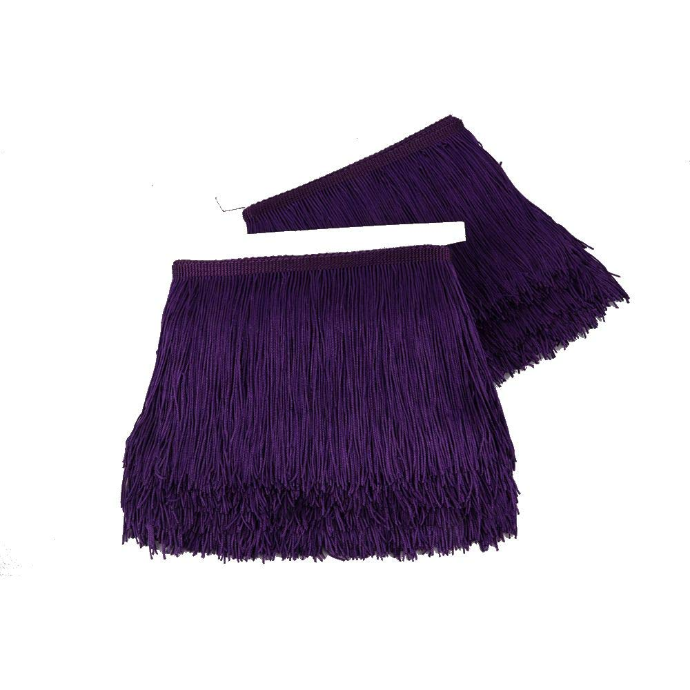 Heartwish268 Fringe Trim Lace Polyerter Fibre Tassel 6inch(/″) Wide 10 Yards Long for Clothes Accessories and Latin Wedding Dress and DIY Lamp Shade Decoration Black White Red Black