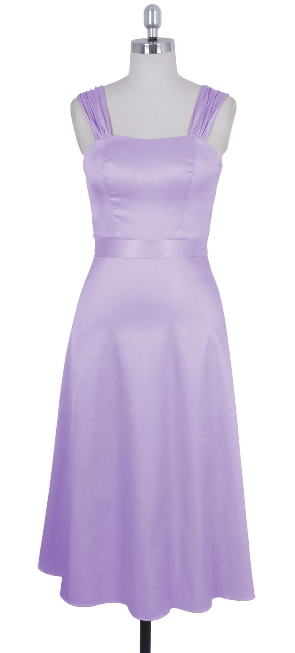 Faship Womens Wide Straps Tea Length Formal Dress