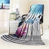 AmaPark Digital Printing Blanket Stones and Lotus Flower over Sand Meditation Harmony Balance Flourish Summer Quilt Comforter
