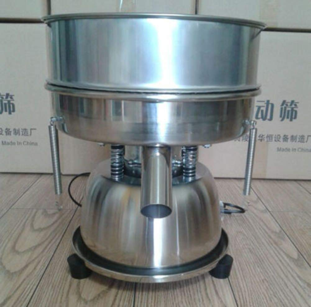 TOPCHANCES 220V Food Industrial Stainless Steel Automatic Vibrating Sieve Machine Screen Powder Machine Electrostatic Powder Screening Sifter Shaker Machine (Fame height: 6cm;40 mesh)