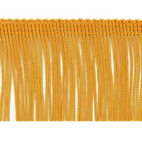 (Expo International 20-Yard Chainette Fringe Trim, 2-Inch, Yellow Gold)