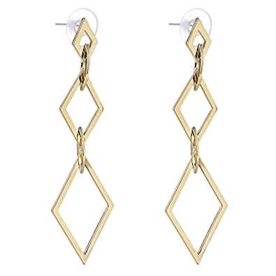 Amazon Com Szolno Women Simple Geometry Earring Alloy Long Drop