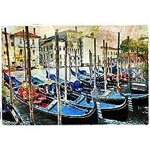 PB Gondollas In Venice Unframed Canvas Painting 26.5 x 18inch