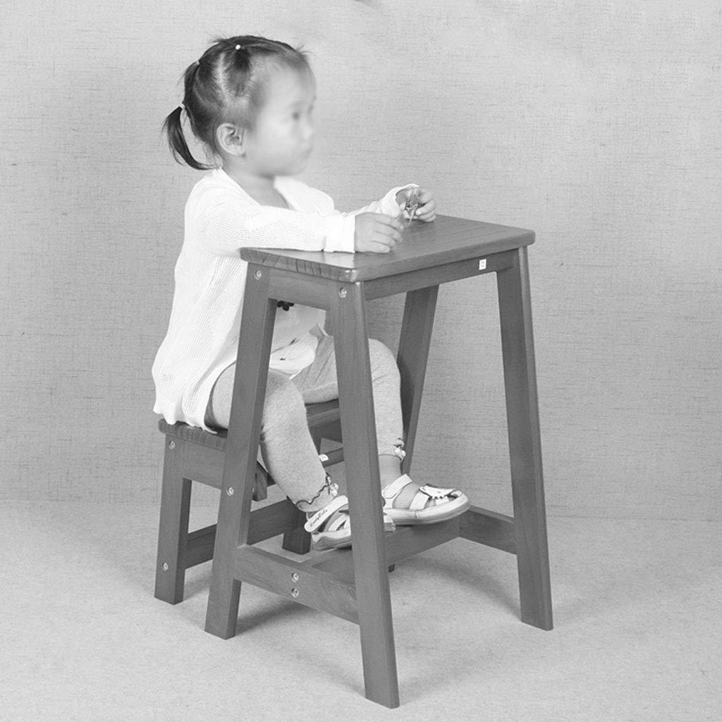 2-Stufen Hocker aus Holz Stair Chair Haushalts Faltbare Leitern Tragbare Trittleiter Pflanzenst/änder Max Last 150kg Farbe: wei/ß