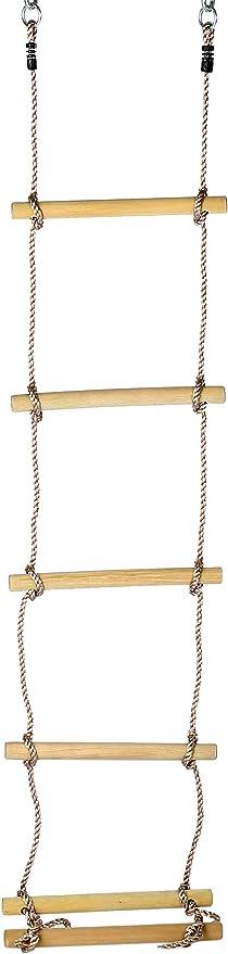 Gartenpirat Escalera de Cuerda niños, peldaños Madera, 220 cm ...