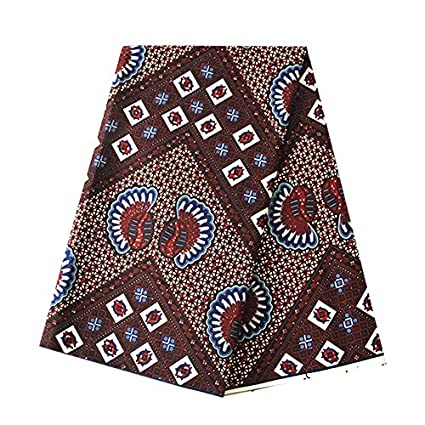 635600236a2b Image Unavailable. Image not available for. Color  6 Yards African Wax  Fabric 100% Cotton 2018 Ankara African Cotton Wax Prints ...