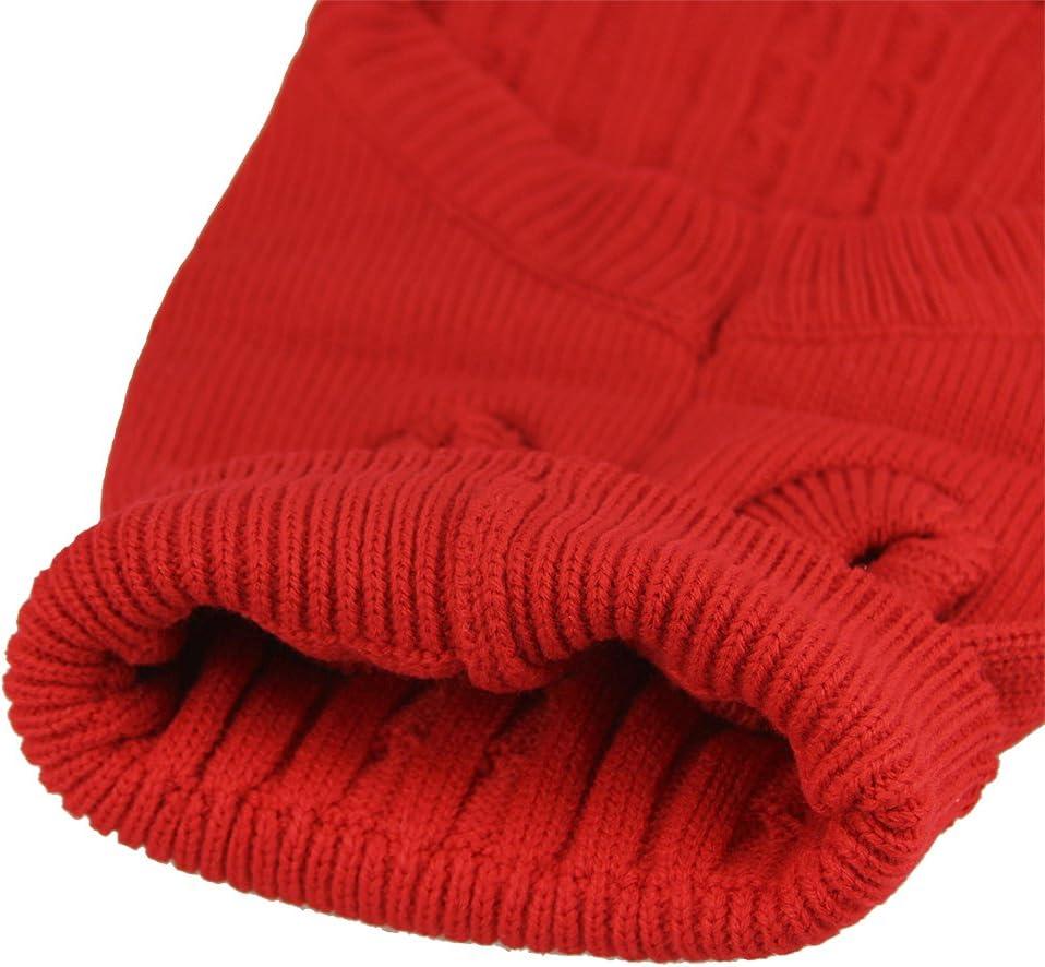 Winterpulli Hunde Strickpullover Bekleidung Hundepulli Winter Pullover Warm und komfortable Chihuahua Haustier Rot Blau Braun Hunde Strickjacke