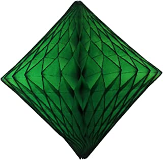 product image for Devra Party 3-Pack 12 Inch Honeycomb Paper Diamond, Dark Green