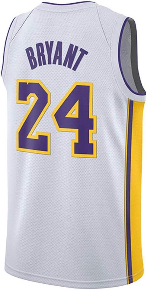 CAISHEN Basketball Anzug Los Angeles Lakers 24# Bryant Atmungsaktiv Mesh Sport Trikot Classic Stickerei /ärmelloses Top Weste