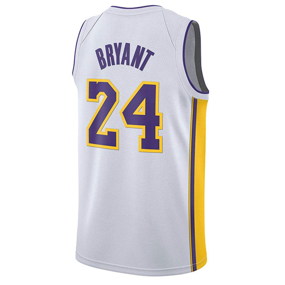 CAISHEN Uomo Donna Los Angeles Lakers 24# Bryant Jersey Maglia da Basket Traspirante Canotte da Basket