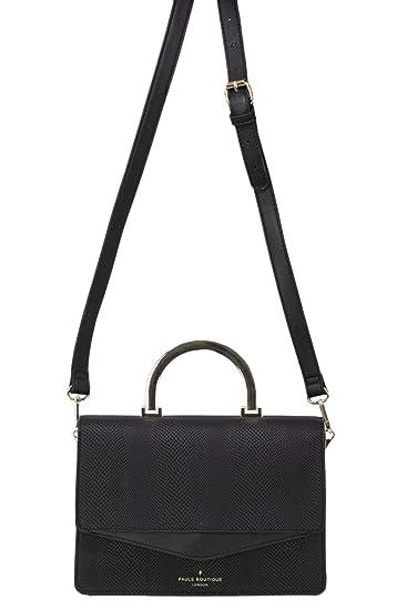 Paul s Boutique London Women s Pbn127274blk Black Polyester Handbag ... e3664623c28