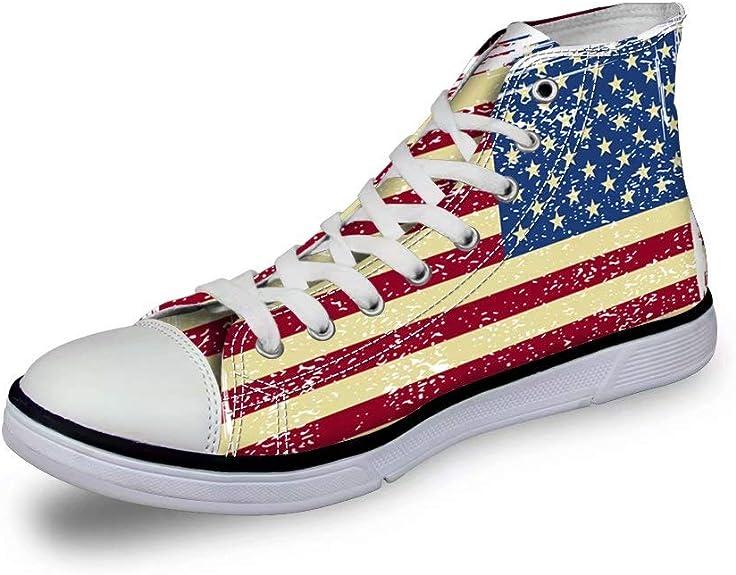 Zapatilla de Lona Zapatilla Altas Zapatillas Deportivas de Zapatillas con Estampado de Bandera Nacional para Adultos Unisex 36-41 UE: Amazon.es: Zapatos y complementos