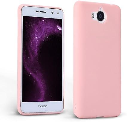 Mosoris Custodia Huawei Nova Young, Huawei Y5 2017 / Y6 2017 Cover, Macaron Candy TPU Silicone Copertura Ultra Sottile Opaco Morbido Satinate ...