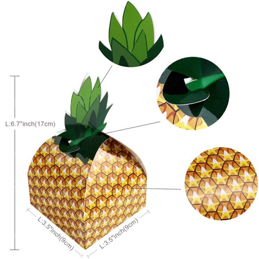 BESTOYARD 20 PCS Ananas Coffrets Cadeaux danniversaire De Mariage Bo/îte De Confiserie De Sucre Bo/îte De Papier Ananas Ananas Articles De F/ête Hawaiian Tropical Party D/écorations