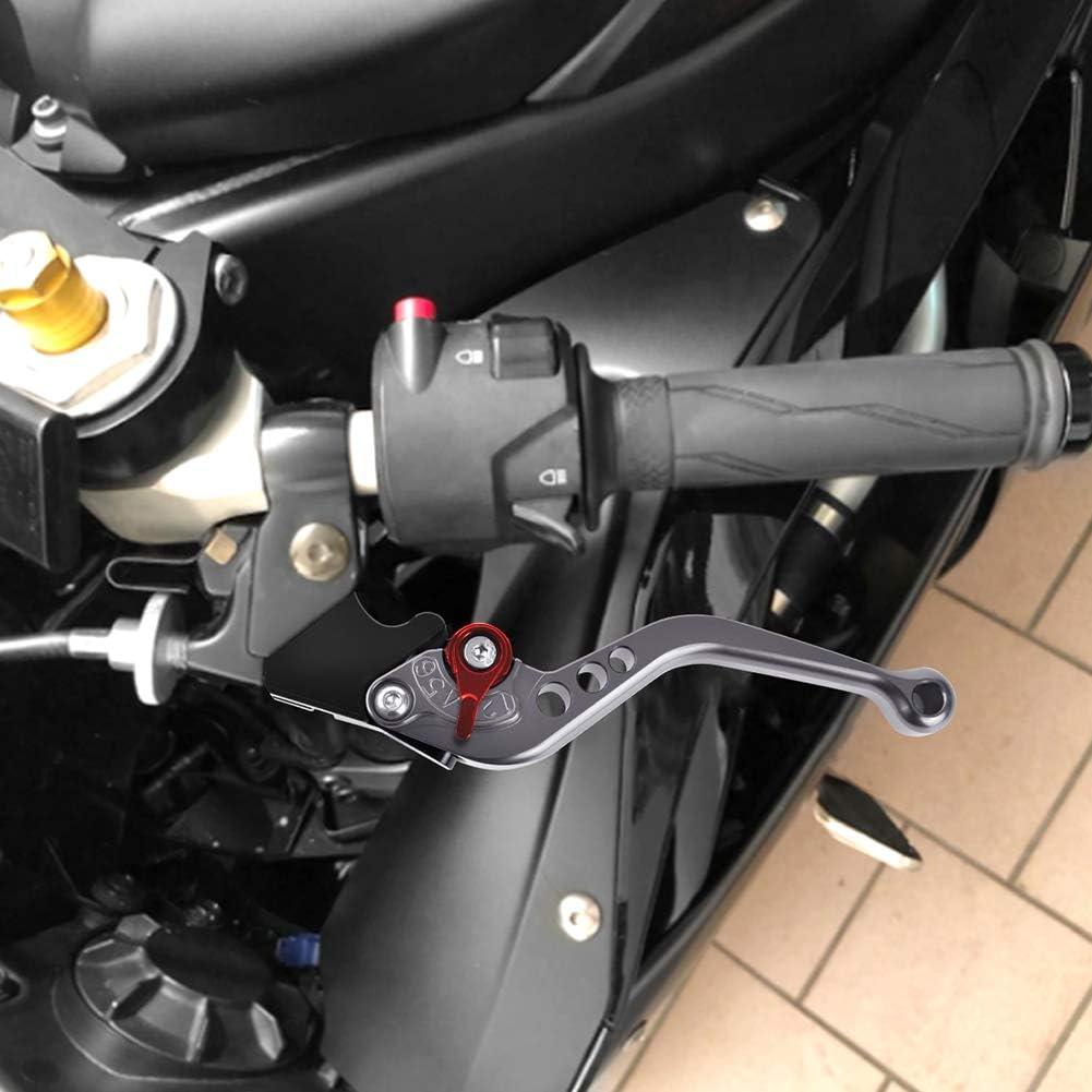 Auzkong Brems Kupplungshebel Für Yamaha Fz 07 Mt 07 2014 2019 Mt 09 Fj 09 Fz 09 Sr Tracer 2015 2019 Mt 10 Fz 10 2016 2019 Niken 2019 Grau 1 Paar Auto