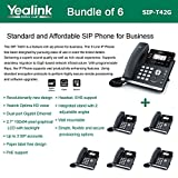 Yealink SIP-T42G - Bundle of 6 Gigabit Color IP Phone 6 Line Keys with LED Wall Mountable