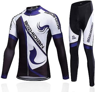 WZCV Ropa Ciclismo Jersey, Hombre Mujer Sudor Transpirable Gel 3D ...