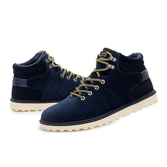 Hishoes Uomo Caldo Stivali da Neve Inverno Casuale High-Top Sneakers all'aperto Antiscivolo Martin Stivali Sportive Boots 79JC1