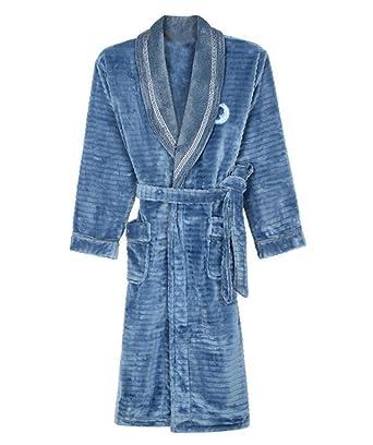 PFSYR Camisón de franela para hombres, Pijamas gruesos y cálidos Albornoz Ropa de casa casual cómoda: Amazon.es: Ropa y accesorios