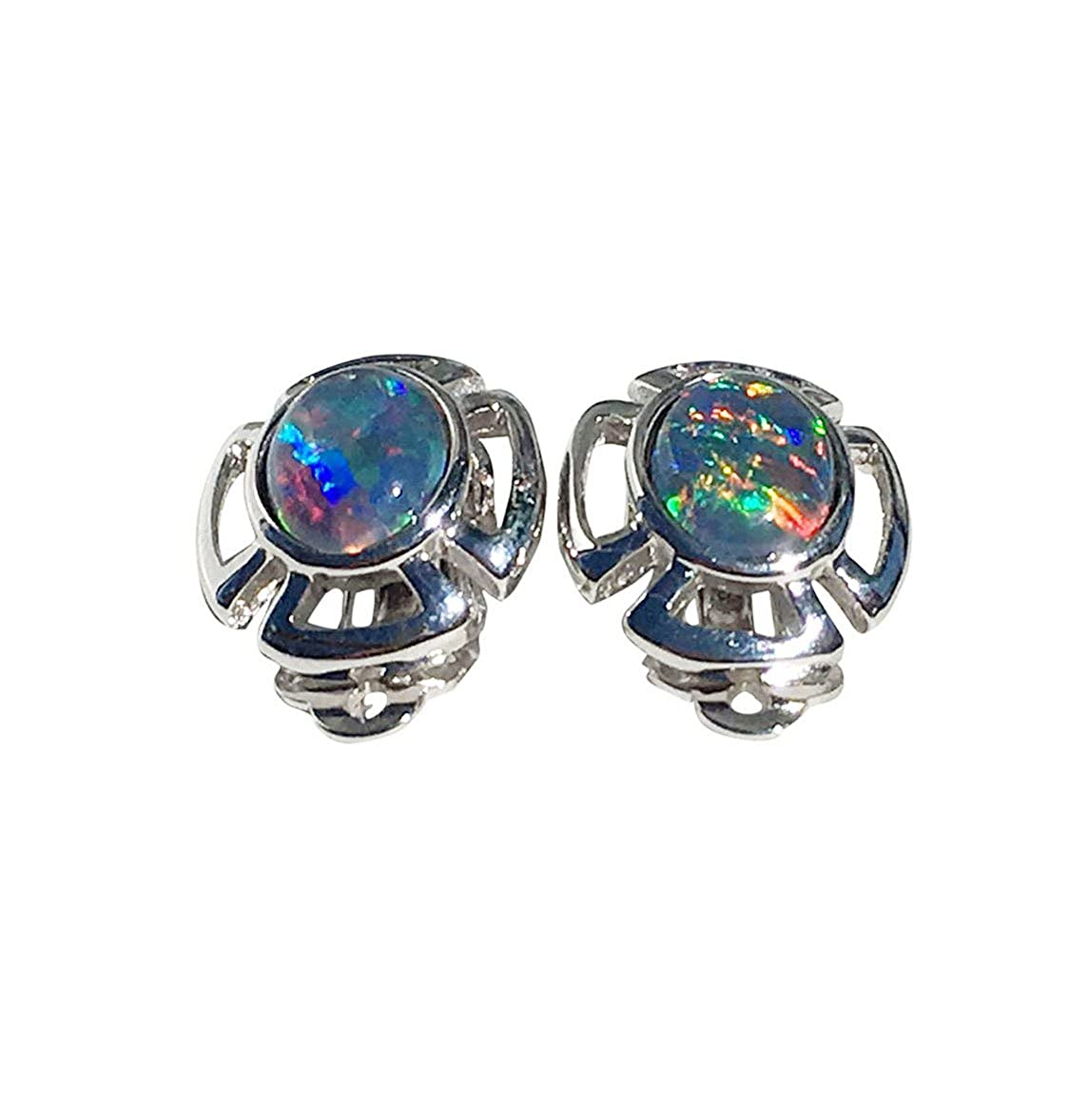 SHIMMERING RIVER STERLING SILVER OPAL EARRINGS