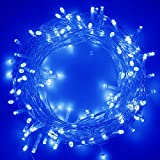 RPGT 100/200/300/400/500 LED String Fairy Lights with 8 Light Effects, Ideal for Indoor/Outdoor Christmas Trees, Xmas,Garden Party,Wedding Events, etc (White, 200 LED)