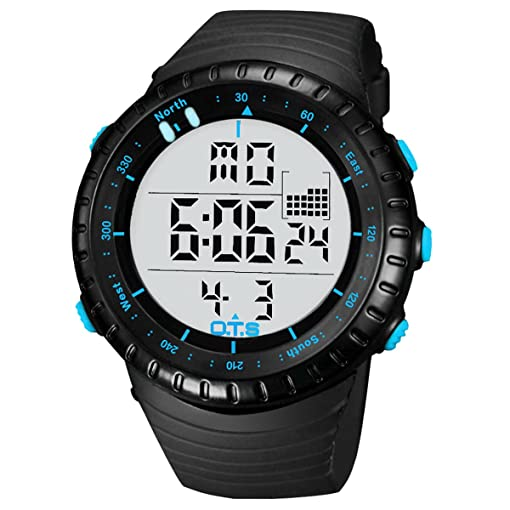 Panegy Muiti Function Digital LED Quartz Watch Water Resistant Electronic Sport Watches Black
