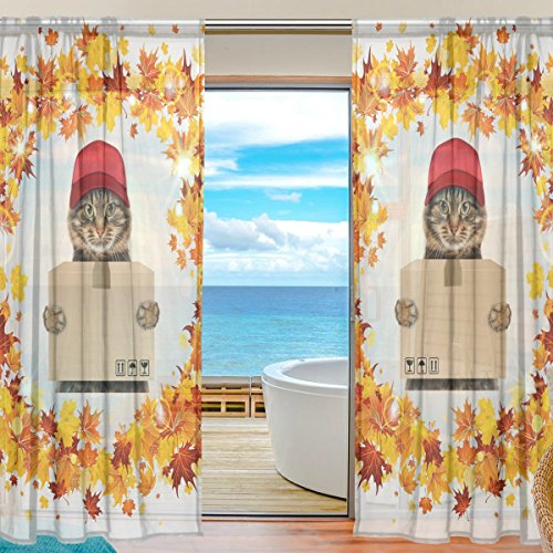 ablink-maple-leaves-courier-cat-fabric-sheer-decor-voile-tulle-window-door-curtains-for-bedroom-livi