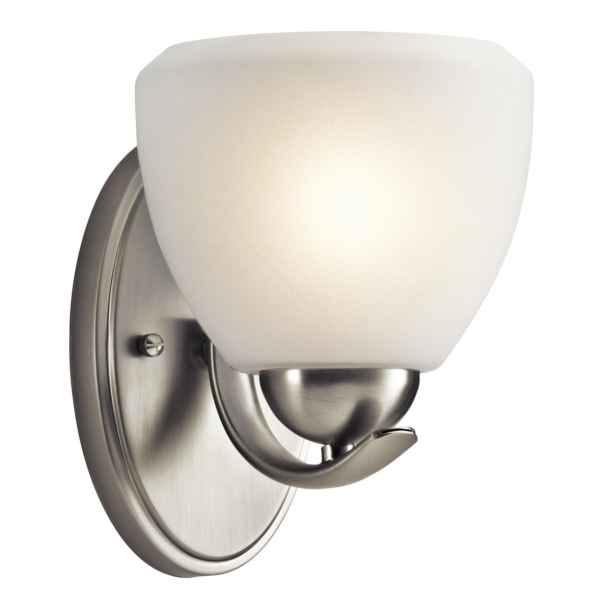 Calleigh 1lt壁取り付け用燭台 1 Light 45117NI 1 B003Y5PKQM 1 Light|つや消しニッケル つや消しニッケル 1 Light
