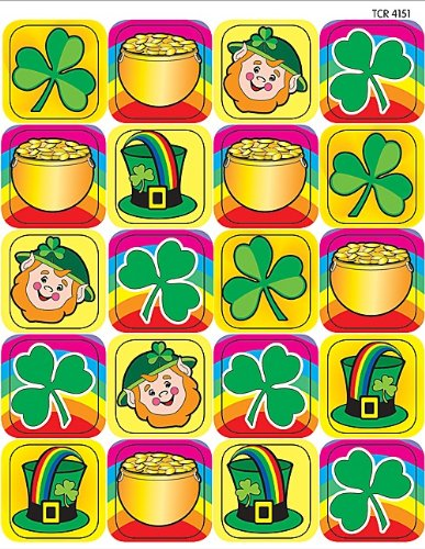 Teacher Created Resources St. Patrick's Day Stickers 4151
