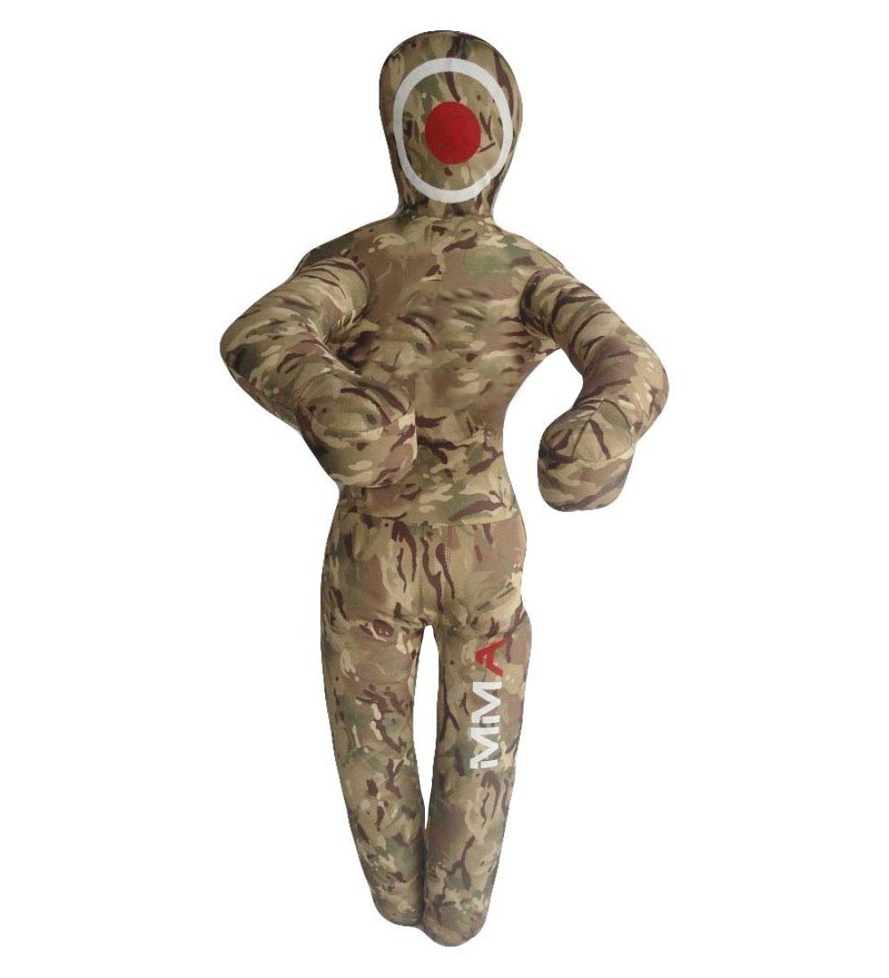 Feather Skin Plumes Peau MMA Grappling Poinçonnage Dummy Reine Wrestling et Arts Martiaux Camouflage Toile Vide camouflage 6 Feet- 182 CM.