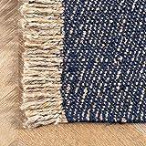 nuLOOM Amalia Flatweave Solid Tassel Jute Rug, 3' x