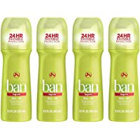4-Pack Ban Roll-On Antiperspirant Deodorant, Regular (3.5oz)