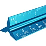 """Architectural Scale Ruler, 12"""" Aluminum Architect Scale, Triangular Scale, Scale Ruler for Blueprint, Triangle Ruler, Drafting Ruler, Architect Ruler, Metal Scale Ruler, Architecture Ruler"""