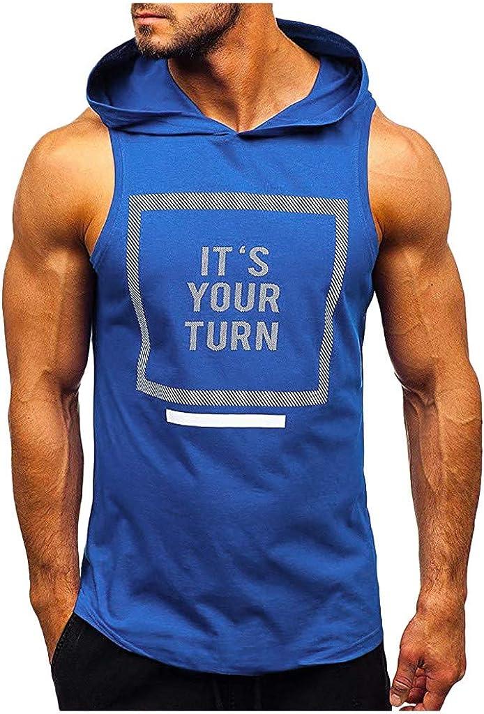 TTLOVE Herren Tank Top Sommer Camouflage Fitness Kapuze Hoodie /Ärmellos Quick Dry Gym Bodybuilding Shirt Modische Pers/önlichkeit Komfortables Hoodie Muskelshirt