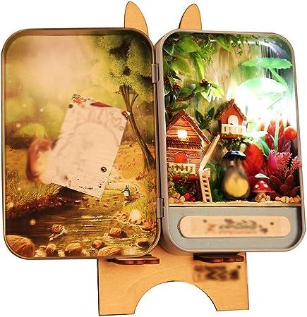 Evav Casa de muñecas, Bricolaje Jungle Time, Caja Hecha a Mano, Secretos de ensamblaje de Modelos de Casas, Regalos creativos: Amazon.es: Hogar