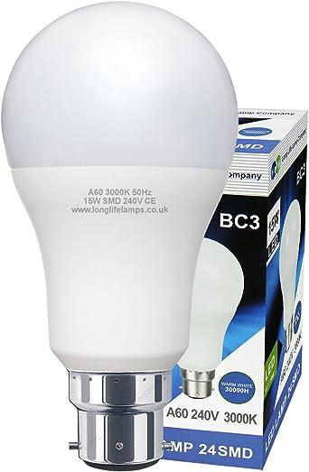 Mem 15w Warm White 2700k Bc-3 Pin Base